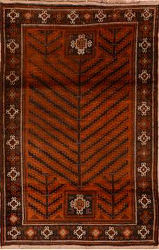 "Baluch Brown Hand Knotted 4'1"" X 6'3""  Area Rug 100-110205"