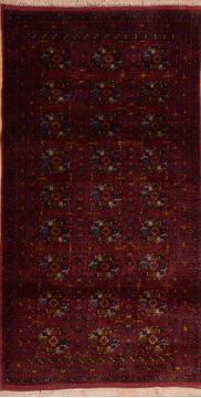 "Baluch Red Runner Hand Knotted 3'4"" X 6'7""  Area Rug 100-110250"