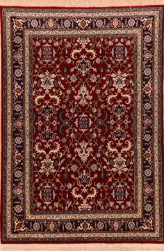 "Heriz Red Hand Knotted 4'0"" X 5'9""  Area Rug 100-110258"