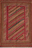 Kilim Red Flat Woven 45 X 75  Area Rug 100-110380 Thumb 0