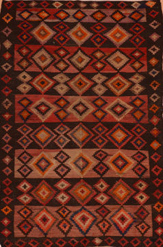 "Kilim Red Flat Woven 5'1"" X 7'11""  Area Rug 100-110434"