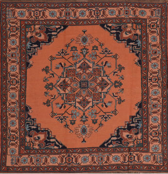 "Kilim Red Square Flat Woven 6'0"" X 6'1""  Area Rug 100-110468"
