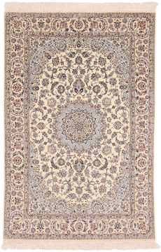 "Nain White Hand Knotted 5'0"" X 7'5""  Area Rug 254-110540"
