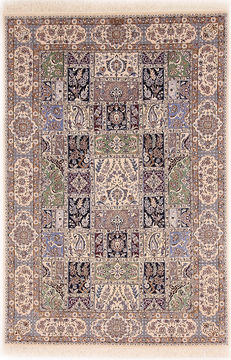 "Nain White Hand Knotted 5'3"" X 7'10""  Area Rug 254-110543"