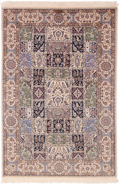 "Nain White Hand Knotted 5'4"" X 7'10""  Area Rug 254-110550"