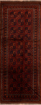 Afghan Baluch Red Runner 10 to 12 ft Wool Carpet 110755