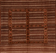 "Kilim Brown Square Flat Woven 4'5"" X 4'6""  Area Rug 100-110779"