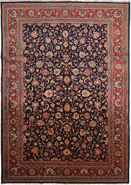 "Sarouk Blue Hand Knotted 8'8"" X 12'3""  Area Rug 254-110849"