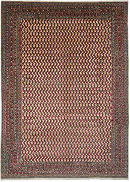 Persian Tabriz Beige Rectangle 8x11 ft Wool Carpet 110850