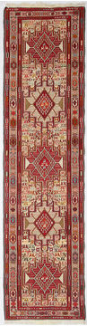 "Kilim Red Runner Hand Knotted 2'6"" X 9'8""  Area Rug 254-110856"