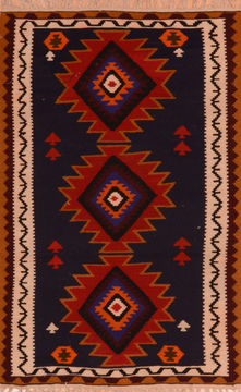 "Kilim Red Flat Woven 3'5"" X 5'8""  Area Rug 100-110896"