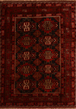 "Khan Mohammadi Black Hand Knotted 6'10"" X 9'9""  Area Rug 100-110933"