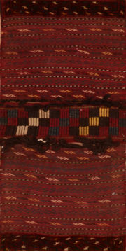 "Turkman Red Hand Knotted 1'11"" X 3'0""  Area Rug 100-110948"