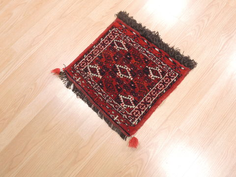 Afghan Baluch Red Square 2x3 ft Wool