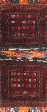 "Turkman Red Square Hand Knotted 1'8"" X 2'4""  Area Rug 100-110994"
