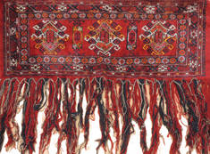 "Baluch Red Hand Knotted 1'8"" X 4'11""  Area Rug 100-111027"