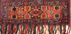 "Baluch Red Hand Knotted 1'7"" X 4'11""  Area Rug 100-111046"