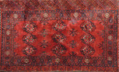 "Baluch Red Hand Knotted 3'0"" X 5'6""  Area Rug 100-111050"