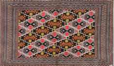 "Baluch Grey Hand Knotted 2'0"" X 4'3""  Area Rug 134-111080"