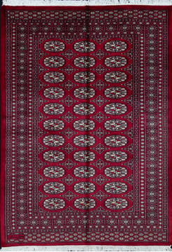 "Bokhara Red Hand Knotted 4'9"" X 6'7""  Area Rug 700-111147"