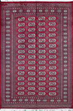 "Bokhara Red Hand Knotted 4'7"" X 6'9""  Area Rug 700-111166"
