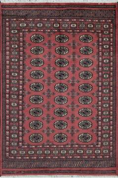 Pakistani Bokhara Purple Rectangle 4x6 ft Wool Carpet 111172