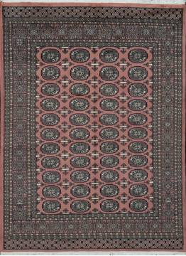 Pakistani Bokhara Purple Rectangle 4x6 ft Wool Carpet 111173