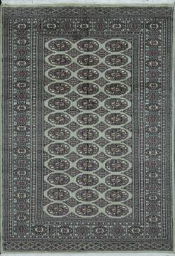 Pakistani Bokhara Green Rectangle 4x6 ft Wool Carpet 111174