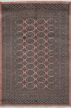 Pakistani Bokhara Purple Rectangle 4x6 ft Wool Carpet 111175