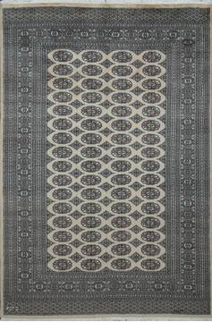 "Bokhara Beige Hand Knotted 5'7"" X 8'4""  Area Rug 700-111196"