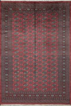 Pakistani Bokhara Red Rectangle 6x9 ft Wool Carpet 111202