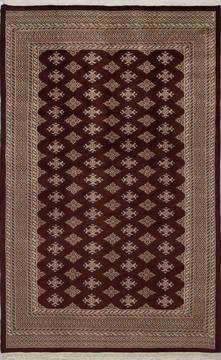 "Jaldar Brown Hand Knotted 5'1"" X 8'0""  Area Rug 700-111232"