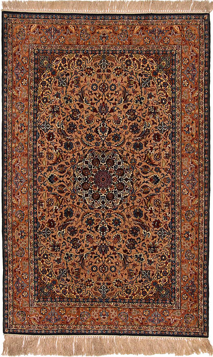 Persian Isfahan Beige Rectangle 5x8 ft