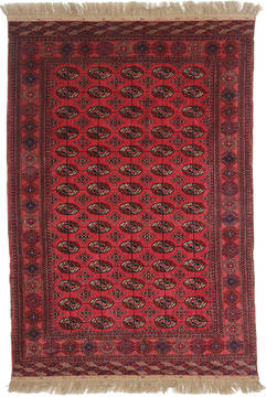 Russia Bokhara Red Rectangle 6x9 ft Wool Carpet 111875