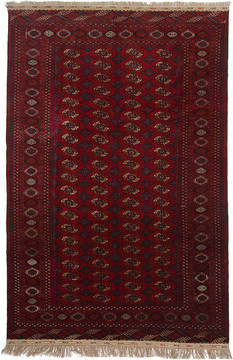 Russia Bokhara Red Rectangle 7x10 ft Wool Carpet 111876