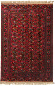 Russia Bokhara Red Rectangle 5x8 ft Wool Carpet 111878