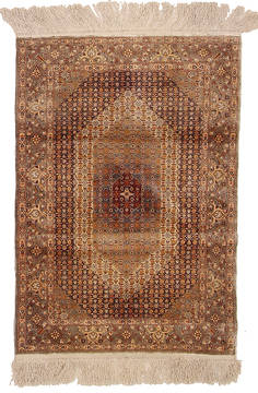 "Herati Beige Hand Knotted 2'0"" X 3'0""  Area Rug 254-111888"