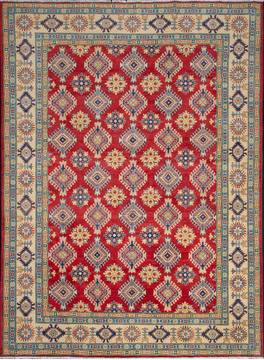 Pakistani Kazak Red Rectangle 8x11 ft Wool Carpet 111902