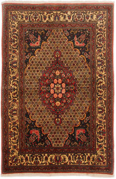 Persian Bakhtiar Red Rectangle 4x6 ft Wool Carpet 111915