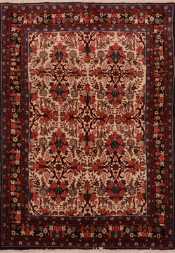 "Hamedan Red Hand Knotted 3'7"" X 5'0""  Area Rug 100-111974"