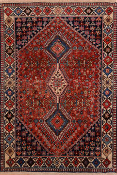 "Yalameh Red Hand Knotted 3'3"" X 5'0""  Area Rug 100-111976"