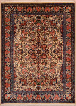 "Bidjar Red Hand Knotted 3'8"" X 5'2""  Area Rug 100-111977"
