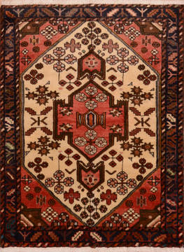 Persian Hamedan Red Rectangle 3x5 ft Wool Carpet 111982