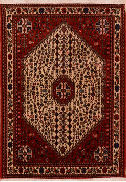 Persian Abadeh Red Rectangle 3x5 ft Wool Carpet 111986
