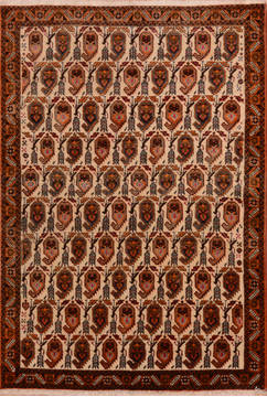 Persian Shahre babak Red Rectangle 3x5 ft Wool Carpet 111988