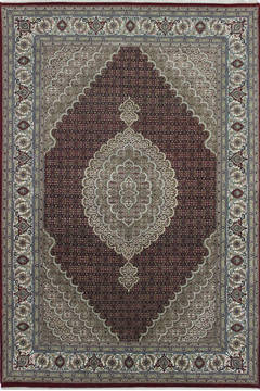 "Mahi Red Hand Knotted 6'9"" X 9'10""  Area Rug 902-111996"