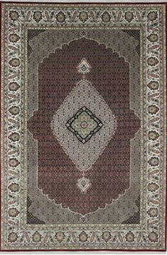 "Mahi Red Hand Knotted 6'7"" X 9'10""  Area Rug 902-111998"