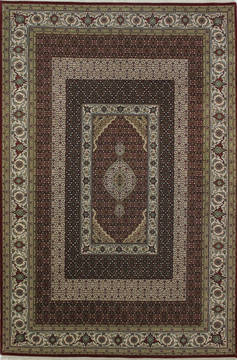 "Mahi Red Hand Knotted 6'9"" X 10'4""  Area Rug 902-112016"