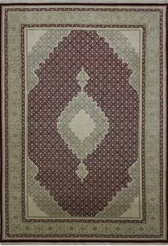 "Mahi Red Hand Knotted 6'8"" X 9'10""  Area Rug 902-112034"