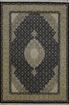 "Mahi Black Hand Knotted 4'1"" X 6'0""  Area Rug 902-112036"